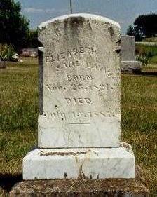 COX DAVIS, ELIZABETH SADE - Van Buren County, Iowa | ELIZABETH SADE COX DAVIS