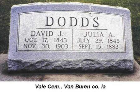 DODDS, DAVID J. - Van Buren County, Iowa | DAVID J. DODDS
