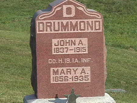 POOR DRUMMOND, MARY A. - Van Buren County, Iowa | MARY A. POOR DRUMMOND
