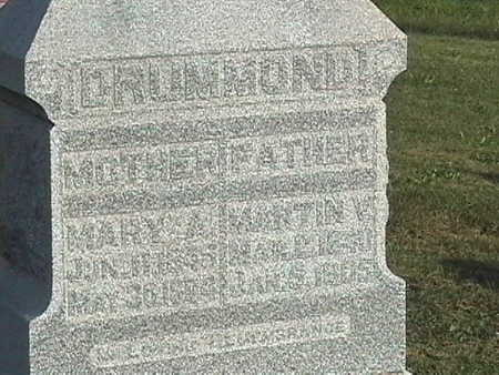 CLEMONS DRUMMOND, MARY A. - Van Buren County, Iowa | MARY A. CLEMONS DRUMMOND