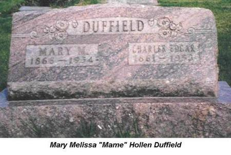 DUFFIELD, MARY M. & CHARLES EDGAR - Van Buren County, Iowa | MARY M. & CHARLES EDGAR DUFFIELD