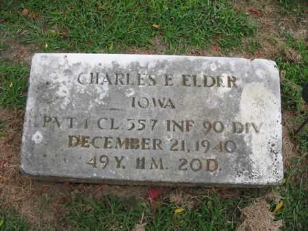 ELDER, CHARLES E. - Van Buren County, Iowa | CHARLES E. ELDER