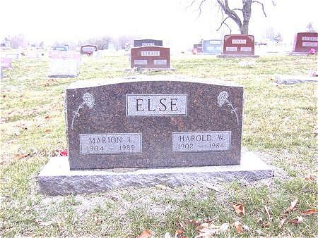 ELSE, HAROLD W. - Van Buren County, Iowa | HAROLD W. ELSE