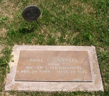 FARRELL, PAUL C. - Van Buren County, Iowa | PAUL C. FARRELL