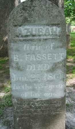 FASSETT, AZUBAH - Van Buren County, Iowa | AZUBAH FASSETT