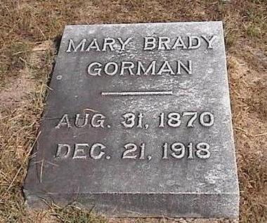 BRADY GORMAN, MARY - Van Buren County, Iowa | MARY BRADY GORMAN