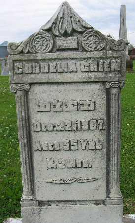 GREEN, CORDELIA - Van Buren County, Iowa | CORDELIA GREEN