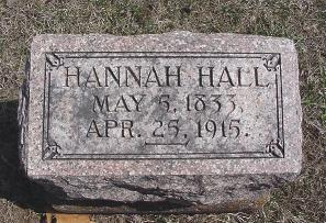HALL, HANNAH - Van Buren County, Iowa | HANNAH HALL