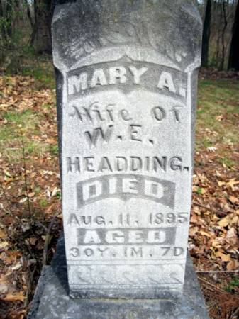 HEADDING, MARY A. - Van Buren County, Iowa | MARY A. HEADDING