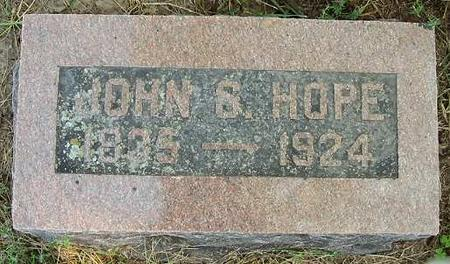 HOPE, JOHN S. - Van Buren County, Iowa | JOHN S. HOPE