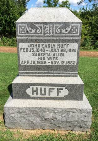 HUFF, SAREPTA ALIVA - Van Buren County, Iowa | SAREPTA ALIVA HUFF