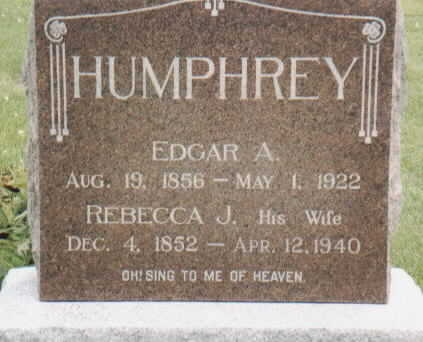 HUMPHREY, EDGAR A - Van Buren County, Iowa | EDGAR A HUMPHREY
