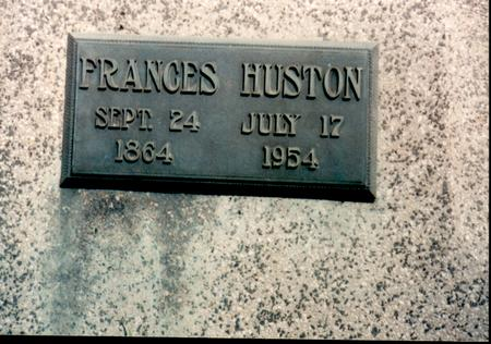 HUSTON, FRANCES - Van Buren County, Iowa | FRANCES HUSTON
