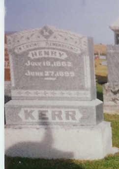 KERR, HENRY - Van Buren County, Iowa | HENRY KERR