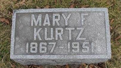 KURTZ, MARY F. - Van Buren County, Iowa | MARY F. KURTZ