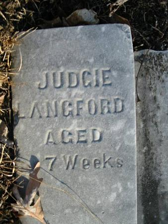 LANGFORD, JUDGIE - Van Buren County, Iowa | JUDGIE LANGFORD