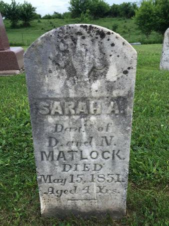 MATLOCK, SARAH A. - Van Buren County, Iowa | SARAH A. MATLOCK