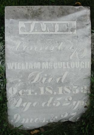 MCCULLOUGH, JANE - Van Buren County, Iowa | JANE MCCULLOUGH