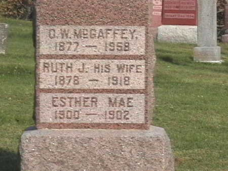 MCGAFFEY, ESTHER MAE - Van Buren County, Iowa | ESTHER MAE MCGAFFEY