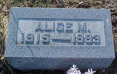 MEGRATH, ALICE M. - Van Buren County, Iowa   ALICE M. MEGRATH