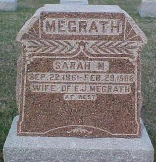 WEATHERINGTON MEGRATH, SARAH M. - Van Buren County, Iowa | SARAH M. WEATHERINGTON MEGRATH