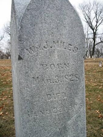 MILES, WM. J. - Van Buren County, Iowa | WM. J. MILES
