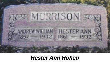 MORRISON, ANDREW WILLIAM, HESTER ANN - Van Buren County, Iowa | ANDREW WILLIAM, HESTER ANN MORRISON