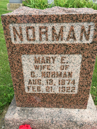NORMAN, MARY E. - Van Buren County, Iowa | MARY E. NORMAN