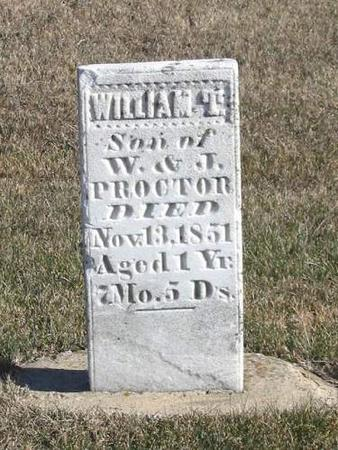PROCTOR, WILLIAM T. - Van Buren County, Iowa | WILLIAM T. PROCTOR