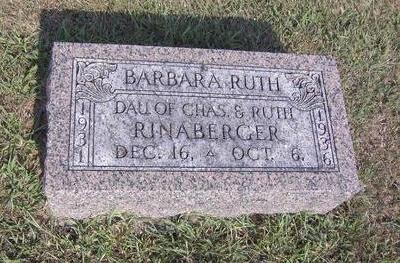 RINABERGER, BARBARA RUTH - Van Buren County, Iowa | BARBARA RUTH RINABERGER