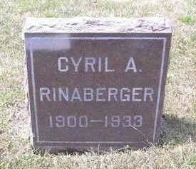 RINABERGER, CYRIL A. - Van Buren County, Iowa | CYRIL A. RINABERGER