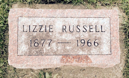 THOMPSON RUSSELL, LIZZIE - Van Buren County, Iowa | LIZZIE THOMPSON RUSSELL