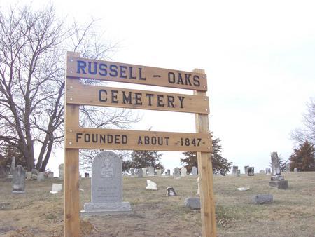 RUSSELL A.K.A. OAKS, CEMETERY - Van Buren County, Iowa | CEMETERY RUSSELL A.K.A. OAKS