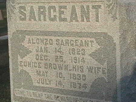 BROWN SARGEANT, EUNICE - Van Buren County, Iowa | EUNICE BROWN SARGEANT