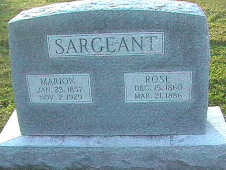 SARGEANT, ROSE - Van Buren County, Iowa | ROSE SARGEANT