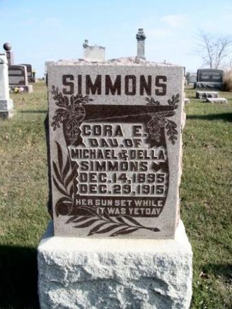SIMMONS, CORA - Van Buren County, Iowa | CORA SIMMONS