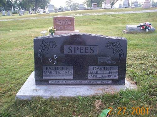 SPEES, PAULINE E. & DAVID C. - Van Buren County, Iowa | PAULINE E. & DAVID C. SPEES