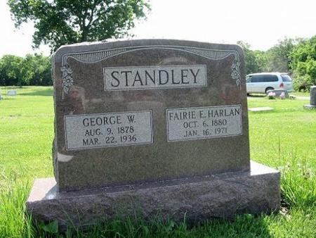 STANDLEY, GEORGE W. & FAIRIE E. HARLAN - Van Buren County, Iowa | GEORGE W. & FAIRIE E. HARLAN STANDLEY