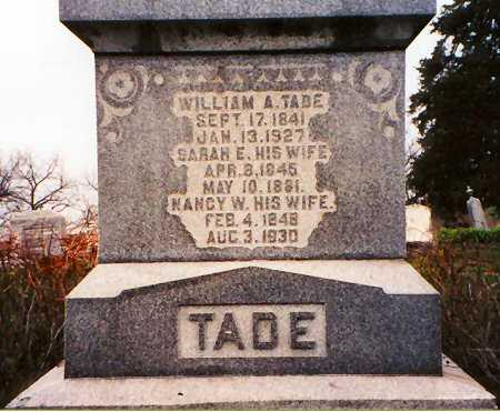 TADE, NANCY W. - Van Buren County, Iowa | NANCY W. TADE