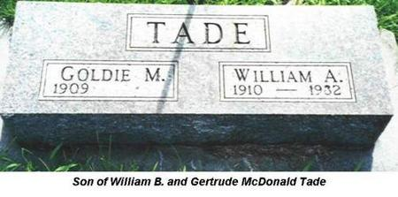 TADE, WILLIAM A. - Van Buren County, Iowa | WILLIAM A. TADE