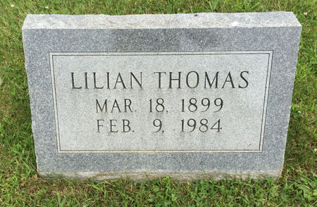 ROBISON THOMAS, LILLIAN - Van Buren County, Iowa | LILLIAN ROBISON THOMAS