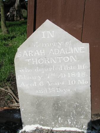 THORNTON, SARAH ADELINE - Van Buren County, Iowa | SARAH ADELINE THORNTON