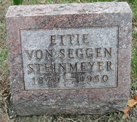 VON SEGGEN STEINMEYER, ETTIE - Van Buren County, Iowa | ETTIE VON SEGGEN STEINMEYER