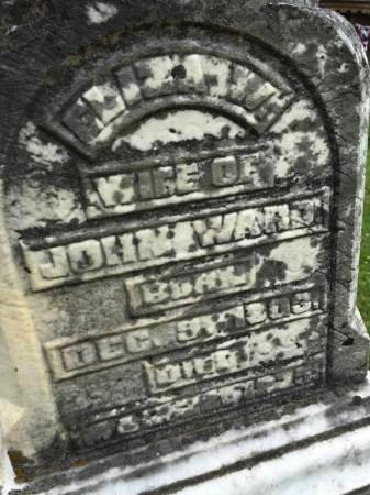 CRAIN WARD, ELIZA W. - Van Buren County, Iowa | ELIZA W. CRAIN WARD