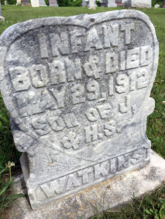 WATKINS, INFANT SON - Van Buren County, Iowa | INFANT SON WATKINS