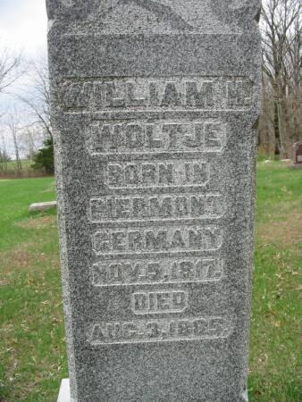 WOLTJE, WILLIAM H. - Van Buren County, Iowa   WILLIAM H. WOLTJE