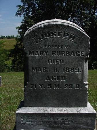 BURBAGE, JOSEPH - Wapello County, Iowa | JOSEPH BURBAGE