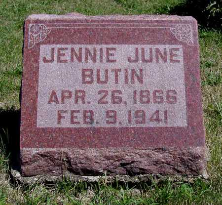 BUTIN, JENNIE JUNE - Wapello County, Iowa | JENNIE JUNE BUTIN