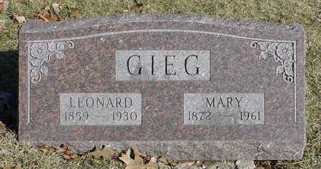 GIEG, MARY - Wapello County, Iowa | MARY GIEG