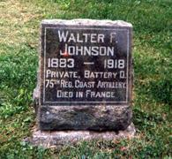 JOHNSON, WALTER FERNON - Wapello County, Iowa   WALTER FERNON JOHNSON